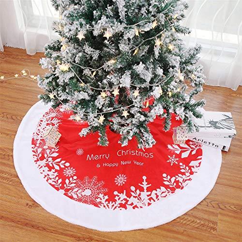 GLITZFAS Christbaumständer Weihnachtsbaum Rock Decke Rot Weihnachtsbaumdecke Baumdecke Weihnachts Dekorationen Weihnachtsbaum Abdeckung Runde Christbaumdecke (A: 120cm)