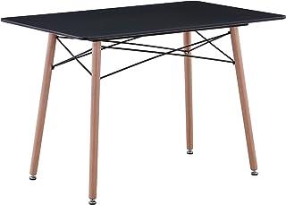 Uderkiny Table à Manger avec comptoir en MDF/Verre, Table Rectangle pour 4-6 Personnes, adaptée à la Table de Balcon de la...