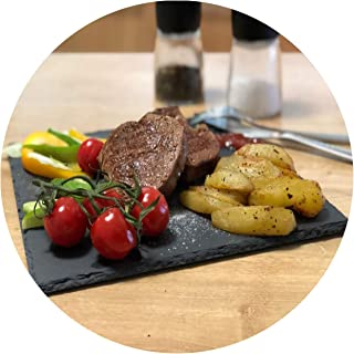Western Natural Slate Dishes Solid Square Stone Sushi Steak Barbecue Plate Cheese Pizza Flat Fruit Plate Food Tea Tray,square 30cmx30cm