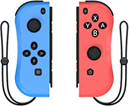 Kinvoca Joypad Controller for Nintendo Switch, Replacement for Switch Joycon with Wrist Strap, Alternatives for Nintendo S...