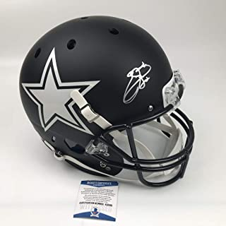 Autographed/Signed Emmitt Smith Dallas Cowboys Full Size FS F/S Replica Football Helmet Beckett BAS COA