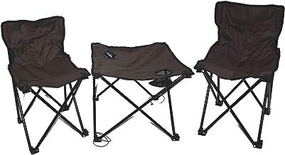 ME foldablel iron set chairs bag with pocket table Al006/C-Dark brown