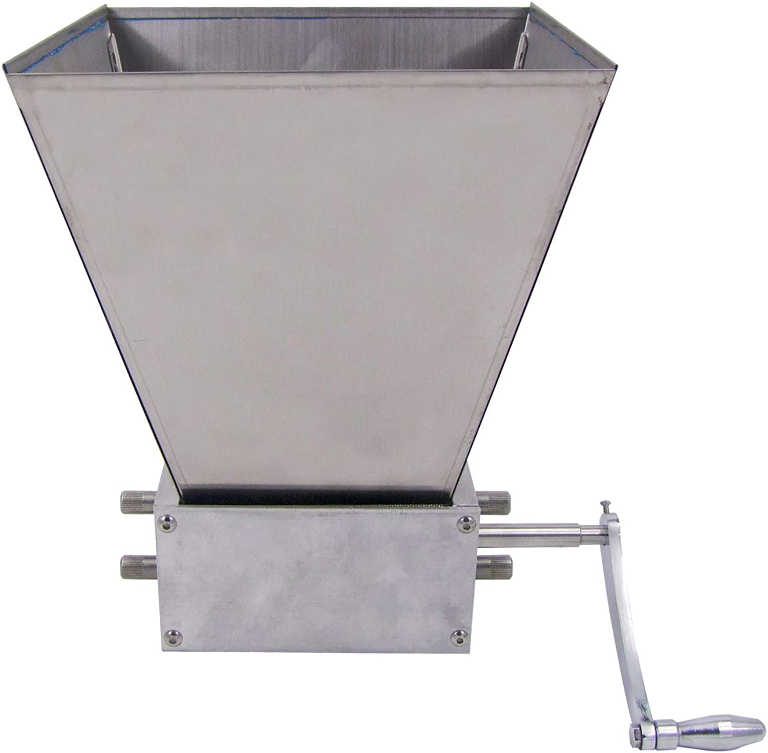 HFS (R) Grain Mill with 11 lb. Hopper and 3 Rollers,Stainless Steel Three Roller Malt Mill