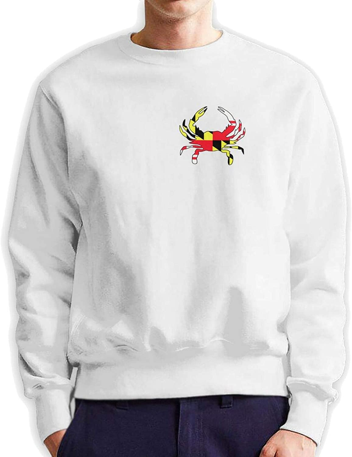 Be super welcome Maryland Flag Crab Outlet SALE Mans Crew Hooded Neck Authentic Hoodie Cotton