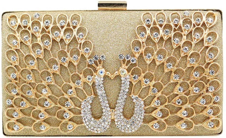 XINGF Mode Legierung Diamant Abendessen Tasche, Metall Pfau Diamant Party Kleid Tasche , Metall elegante Abendtasche B07PRYWTY5  Bestellungen sind willkommen