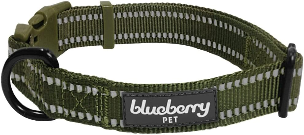 Blueberry Pet Free shipping anywhere High quality in the nation Essentials 3 Colors Dog Reflective 3M Collars