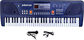 OUD Super Quality Gift for Beginners & INTERMEDIATES 61-Keys Bigfun Electronic Piano with USB MP3 Play Function, LED Display & Microphone