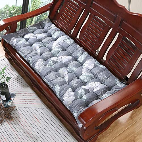 Cojín de banco ultra grueso de 8 cm, antideslizante, duradero, rectangular, cómodo, cojín para silla de jardín al aire libre para 2 – 3 plazas