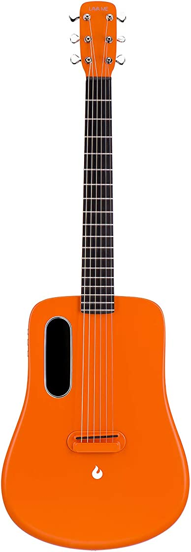 Chitarra elettrica in carbonio lava me 2 con borsa da viaggio plettri e cavo di ricarica(freeboost-arancione) B088B939X7