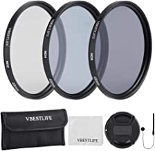 49mm 52mm 55mm 58mm 62mm 67mm 72mm 77mm 82mm ND2 ND4 ND8 Lens Filters Kit with Pouch Photography Tackle Carry Pouch Lens Cap Clean Cloth 49mm