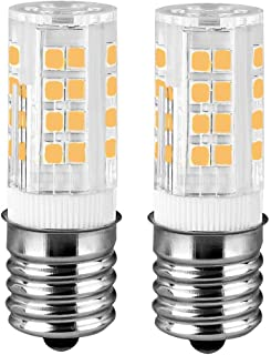 Microwave Oven Appliance 4W E17 LED Bulb (40W Halogen Bulb Equivalent) Warm White 3000K Dimmable Ceramic Body Microwave Oven Light Bulb (Pack of 2)