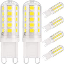 DiCUNO G9 3W LED Light Bulbs, 430LM, Equivalent to 40W Halogen, Cool White 6000K, 220-240V, Not Dimmable, G9 Capsule Light...