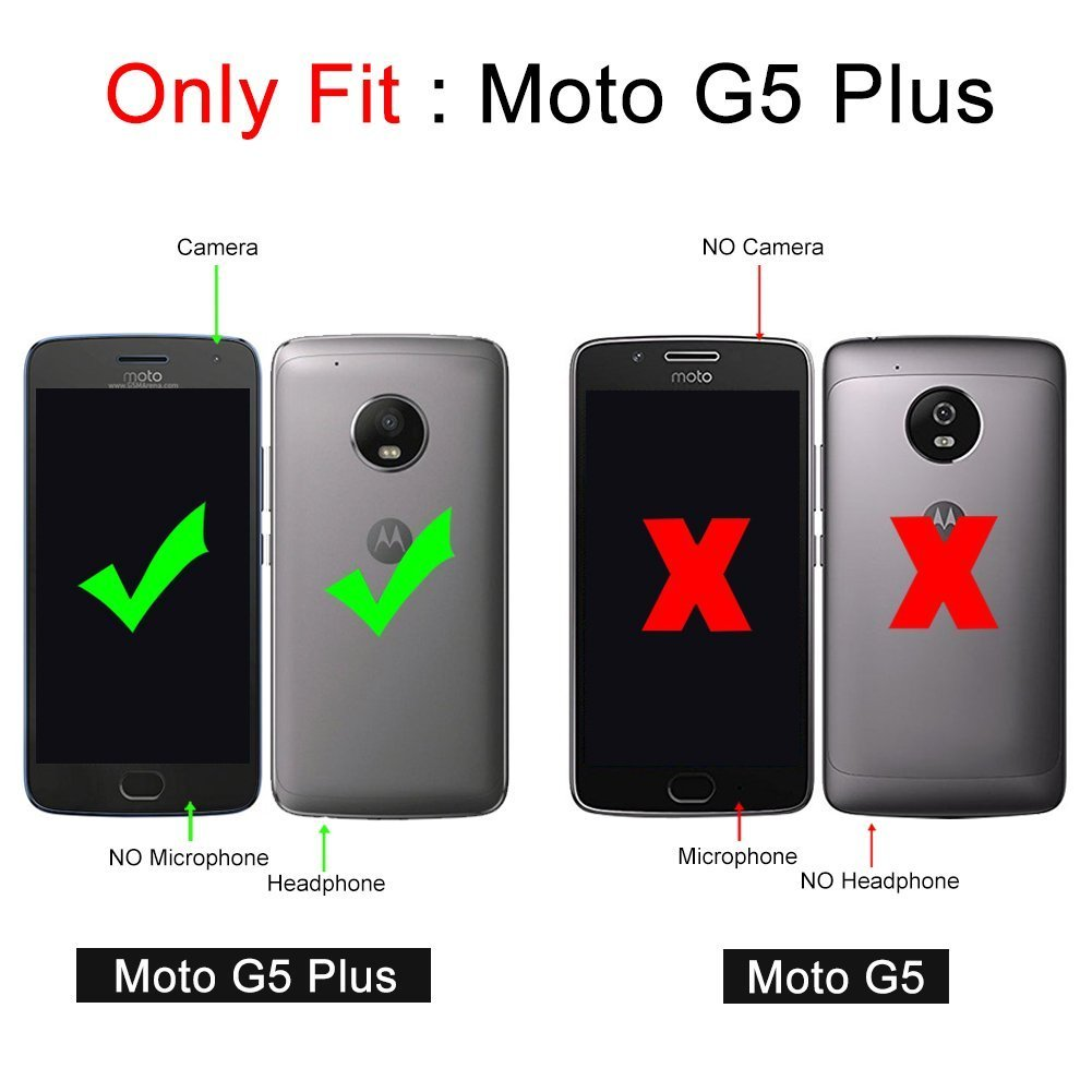 J&D Compatible para Moto G5 Plus Funda, [Armadura Delgada] [Doble ...