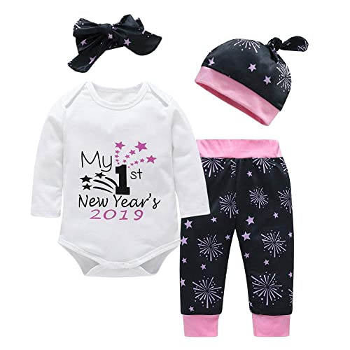 8448da49ab51 chinatera Baby Boys Girls Clothes New Year 2018 2019 Romper+Pants+Hat+