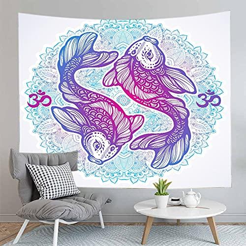 PPOU Mandala Bohemian Tapestry Wall Mounted Home Camera da letto Decorazione murale Sfondo Tapestry Wallcloth A4 130x150cm