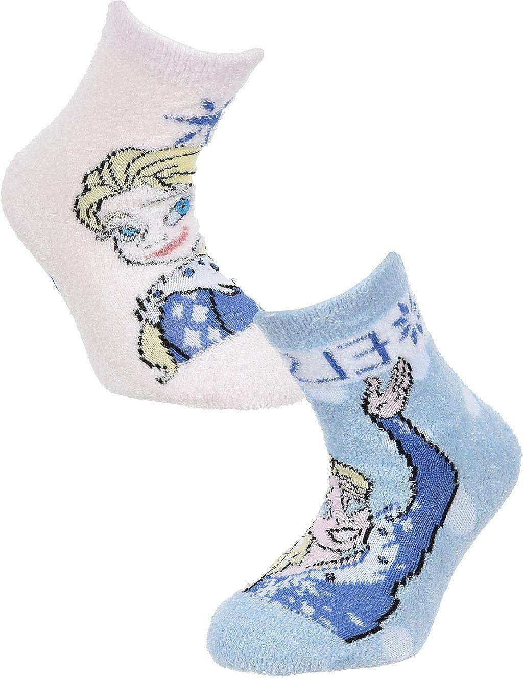 Girls Official Licensed Disney Frozen Slipper Socks Elsa & Anna