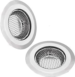 Spoelbak Afvoerzeef Filter - GreeSuit 2 Stks RVS Spoelbak Metalen Zeef Bad Wastafel Plughole Filter voor Keuken Badkamer 1...