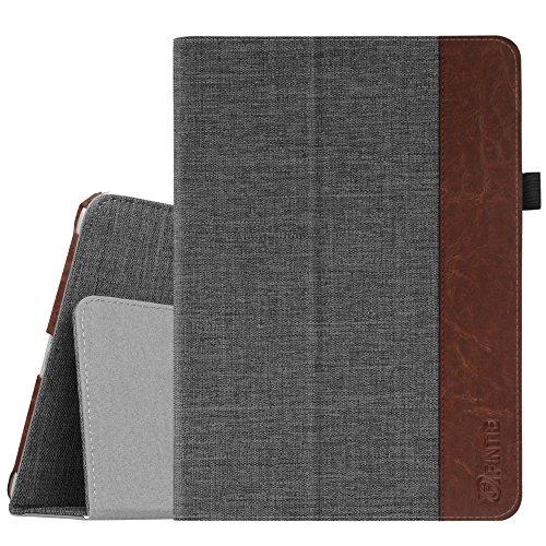 Fintie Hülle für iPad 9.7 Zoll 2018 2017 / iPad Air 2 / iPad Air - [Eckenschutz] Slim Fit Folio Sotff Schutzhülle Case mit Ständer und Auto Schlaf/Wach Funktion, Denim dunkelgrau