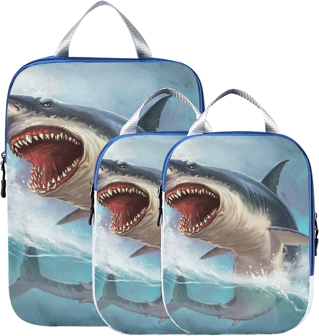 Packing Bags Sale special price Cubes For Travel Ranking TOP12 Great Shark White O Fierce