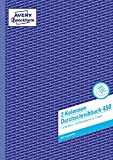 AVERY Zweckform 450 Kolonnen-Durchschreibbuch 2 Kolonnen (A4, mit 1 Blatt Blaupapier, von Rechtsexperten geprüft, für Deutschland und Österreich zum Erstellen von Original und Kopie, 2x50 Blatt) weiß