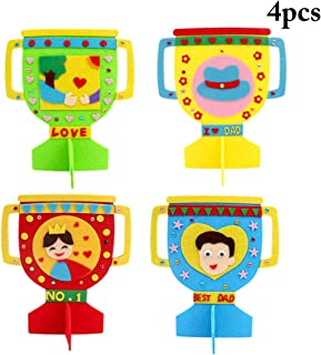 Coxeer 4PCS Craft Making Kit Creative DIY Trophy Educational Craft Toy for Father's Day