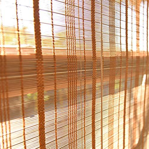 Rolgordijngordijn Romeinse schaduw Natuurlijke bamboe Zonnescherm Lichtfilterende rolgordijnen voor woonkamer Eetkamer/slaapkamer en meer
