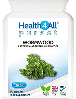 Wormwood 250mg 90 Capsules (V) Purest: no additives. Vegan.