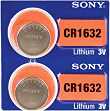 SONY CR1632 3 Volt Lithium Coin Cell Battery (2 Pieces)