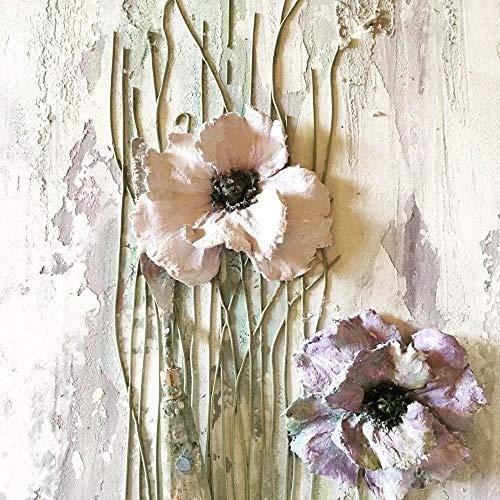 Leinwandmalerei im skandinavischen Stil Wandkunst Blumenplakat und Druck Wohnzimmerdekoration Malerei 64x80cm