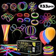 🎉 THE ULTIMATE PARTY ACCESSORIES – bring the night to life at a party, Halloween celebration, BBQ, sports event, festival or sitting around the campfire with our bumper pack of glow sticks and accessories. Fun and exciting, they will provide hours of...