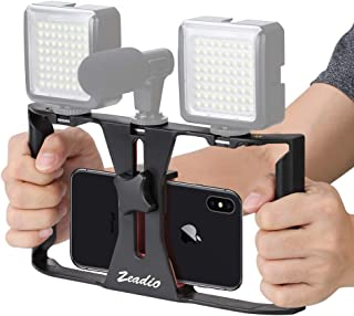 Zeadio Smartphone Video Rig, Phone Movies Mount Handle Grip Stabilizer, Filmmaking Recording Rig Case for Video Maker Film...