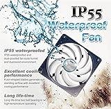 TITAN- 12V DC IP55 Waterproof/Dustproof Case Cooling Fan (120mm)