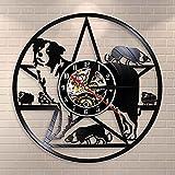 UIOLK Border Collie Chien Horloge Murale Border Collie Formation Club Troupeau Chien Race...