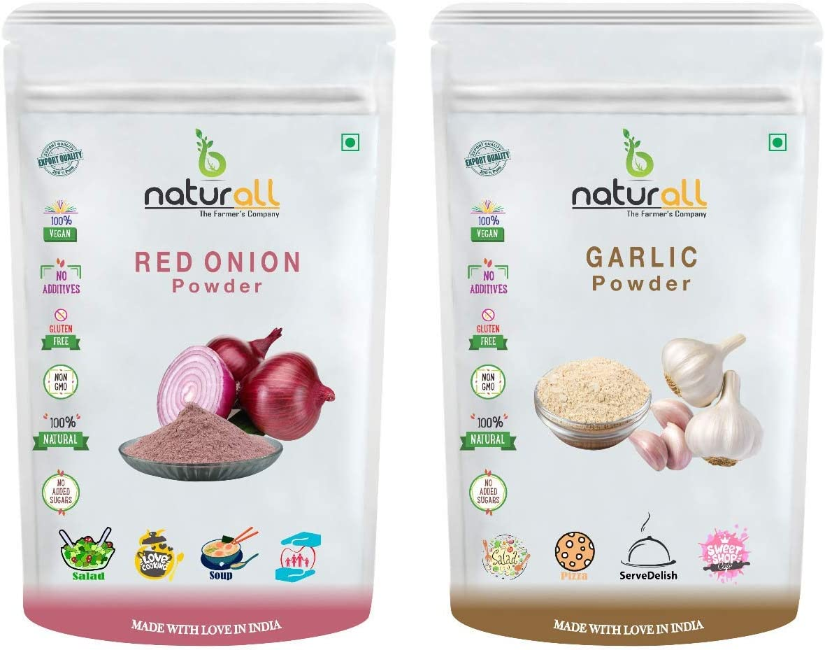 Anjani B free shipping Naturall Sale Pack of 2 - P Powder Onion Red Garlic 200 GM