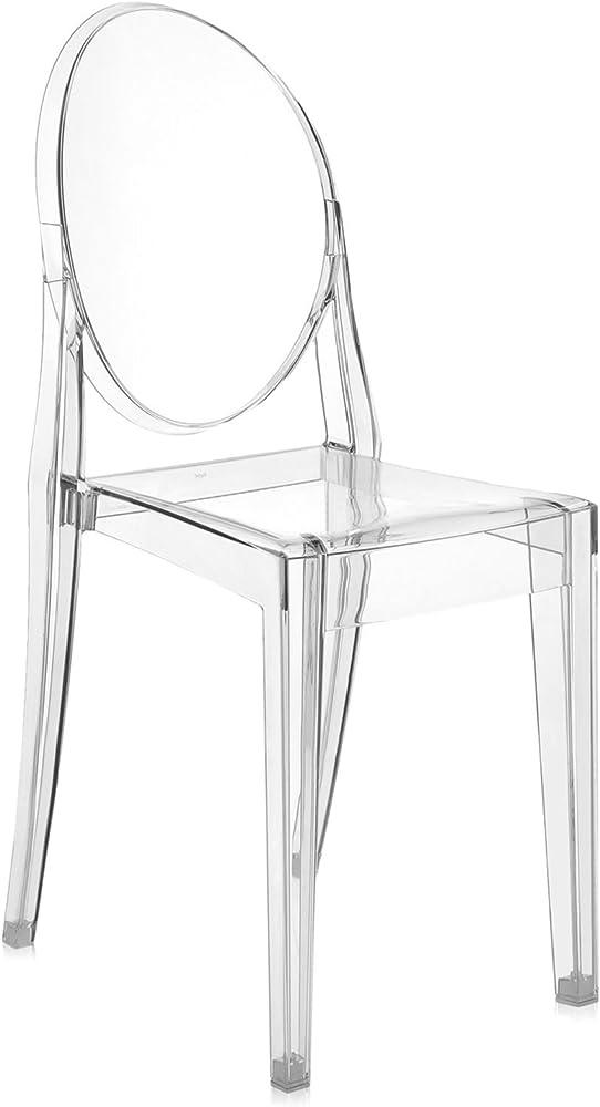 Kartell victoria ghost sedia, cristallo 04857B4