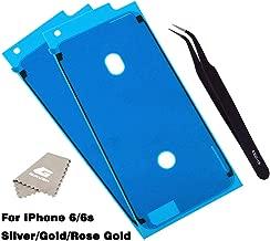 Screen Adhesive Strips Pre-Cut Waterproof Seals for iPhone 6/6S,GVKVGIH Water Liquid Damage Repair Adhesive Replacement 2Pack for iPhone 6/6S