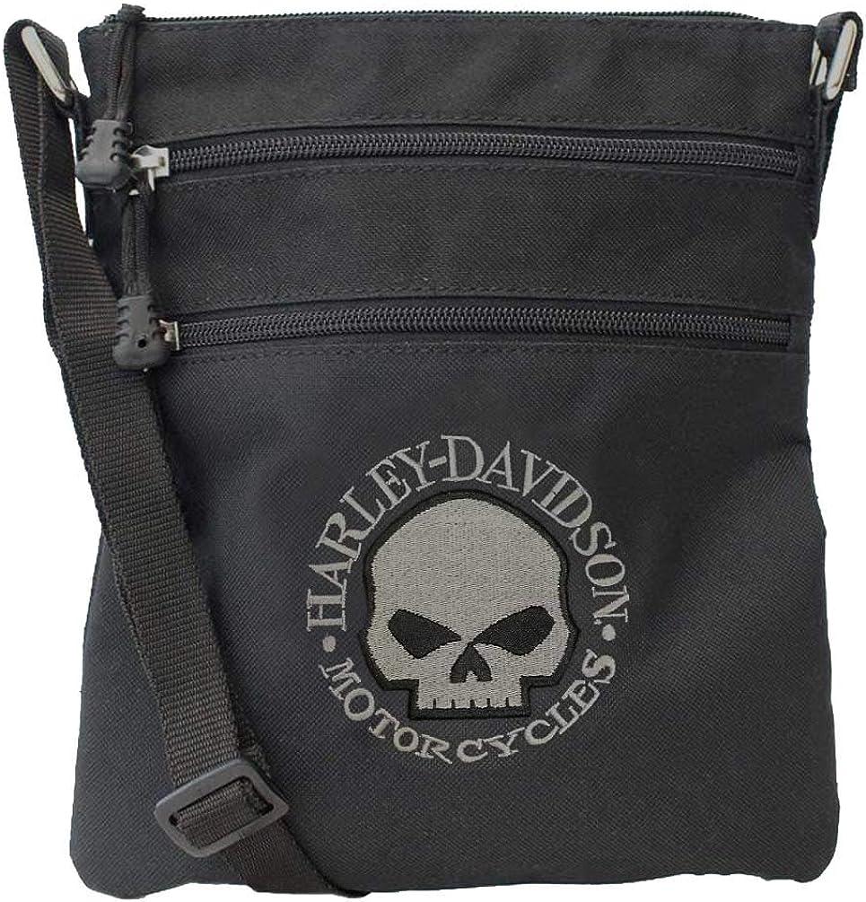 Harley-Davidson Embroidered Willie G Skull Crossbody Purse w/Adjustable Strap