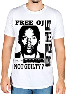 AnnaBGuillaume Men's Free OJ Simpson Cool T-Shirt Casual Tees