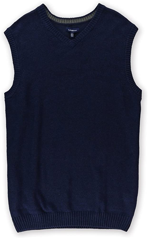 Croft&Barrow Mens Classic Signature Sweater Vest, Blue, MT
