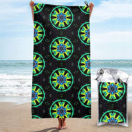 Toalla de Microfibra de Secado rápido, Ruedas de Mariposa Toallas de baño Ultra Suaves para Acampar, Nadar, Playa, baño, 31.5 'x63