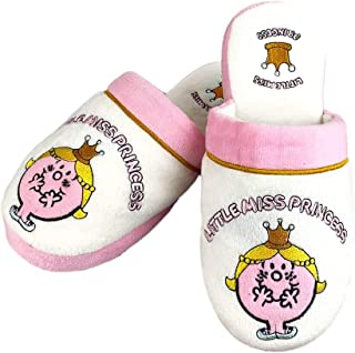 Mr Men & Little Miss - Miss Princess Slippers , White/Pink/Yellow, 5