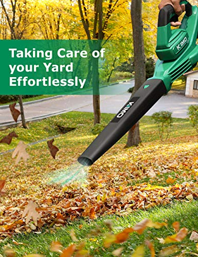 Cordless Leaf Blower - 200 CFM 150 MPH Battery-Operated Blower for Blowing Leaves, Snow Debris and Dust, 20V Electric Leaf Blower with Battery and Charger for Yard, Work Around The House