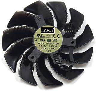 inRobert T129215SU - Ventilador de refrigeración para tarjeta gráfica Gigabyte GTX 1050 Ti RX 480 470 570 580 GTX 1060 G1