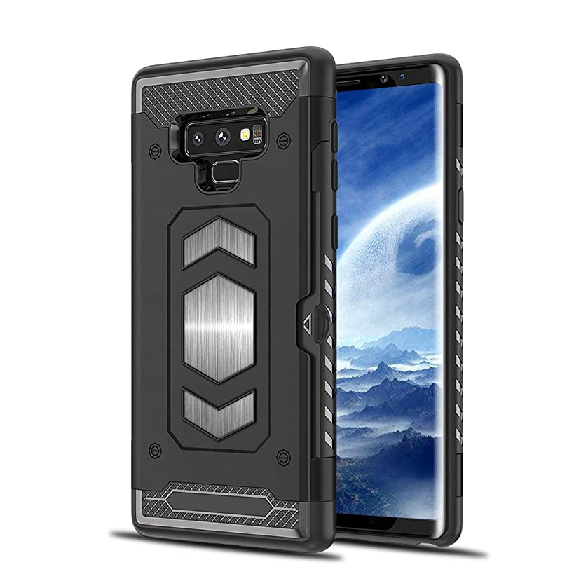 Galaxy Note 9 Case, 1Anberi Soft TPU Note 9 Back Case Silicone Cover with Car Magnet for Samsung Galaxy Note 9 (Black, Galaxy Note 9)