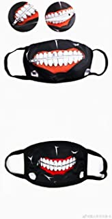 Master Online (2 Pack) Anime Simulated Zip Teeth Cosplay Face Props Accessories for Girls Boys