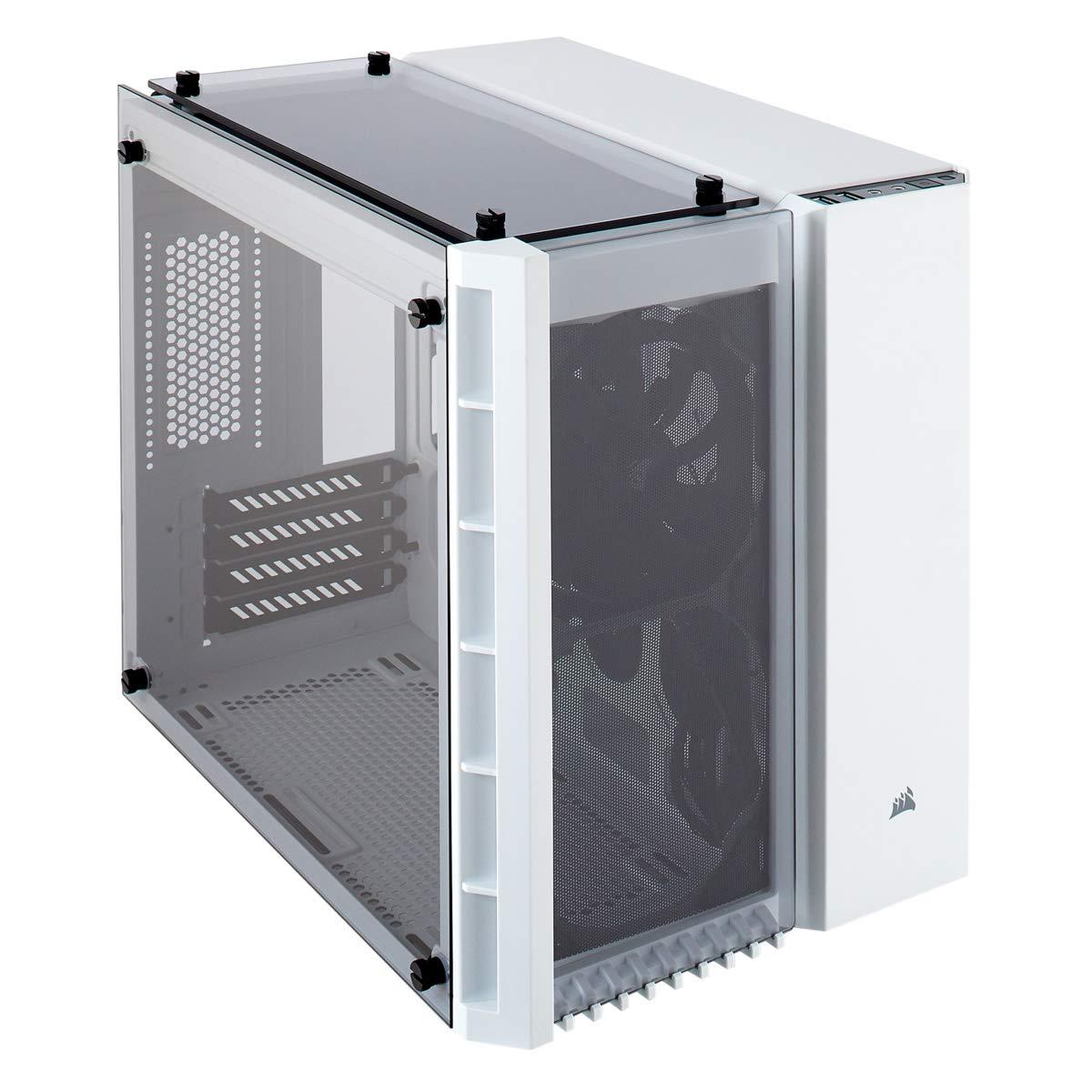 Corsair Crystal Series 280X - Caja de PC, ATX, tres paneles de cristal templado sin iluminación Nessun LED, Blanco: Amazon.es: Informática