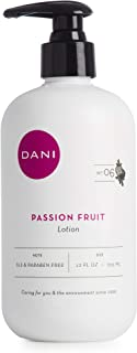 Natural Hand & Body Lotion by DANI Naturals - Juicy Passion Fruit Scented Aromatherapy - Moisturizing Shea Butter & Aloe - with Natural & Organic Ingredients - 12 Ounce Bottle