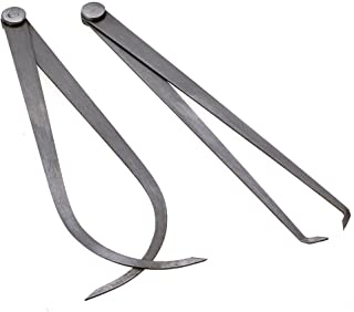 Ewead, 250mm Long Silver Machinist Long Firm Joint Metal Measurement Tool Inside and Outside Caliper Gauge 2pcs