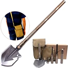 ITTA Outdoor Military Folding Shovel - Tactical Entrenching Tool with Case for Camping Backpacking Hiking Car Snow - Portable, Multifunctional, Compact, Heavy Duty Survival Emergency Kit
