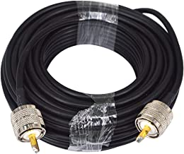 RG58 15M Low Loss UHF PL-259 Male to Male WiFi Antenna Cable Coaxial PL259 Coax Connectors for Ham or CB Radio Antenna Extension Coax for VHF HF Radio rg58 Coax Cable